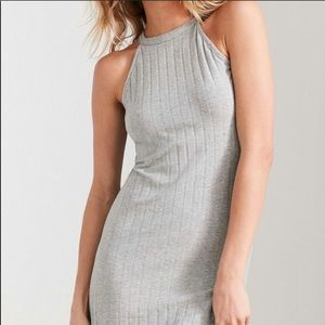 NWT urban outfitters glamorous grey rib dress xS